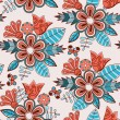 Seamless floral pattern.Endless texture — Stock vektor