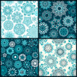 Ornate floral seamless texture, — Stock Vector