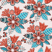 Seamless floral pattern.Endless texture — Stock Vector