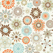 Ornate floral seamless texture, — ストックベクタ