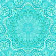 Ornamental round lace pattern, circle background with many detai - Stock Vector
