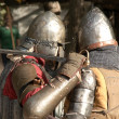 Knight battle in Jerusalem — Stock Photo