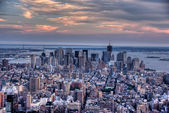 Manhattan from empire state building view — Stock Photo