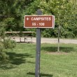 Sleepy Hollow state park camp site — Stock Photo
