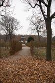 Belvedere park near palace — Stock Photo