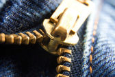 Jeans zipper — Stock Photo