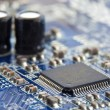 Electronic chip on circuit board — ストック写真