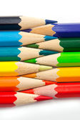 Color pencils isolated on a white_counter position — Stock Photo