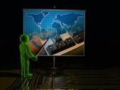 Presentation about communication — Stock Photo