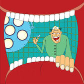 Doktor stomatologist — Stok Vektör
