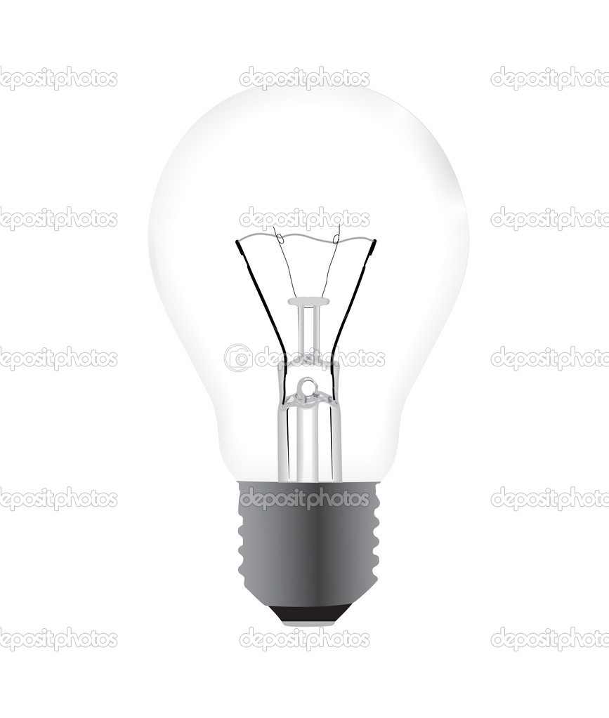 White old fashioned light bulb. Vector illustration EPS 10.  Stock Vector #8878639