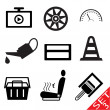 Car part icon set 3 — Imagen vectorial