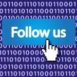 Follow us — Stock Vector