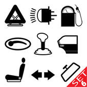 Car part icon set 6 — Stock Vector