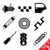 Car part icon set 7 — Stock Vector