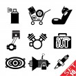 Car part icon set 10 — Stock Vector