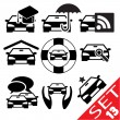 Stock Vector: Car part icon set 13