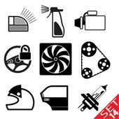 Set di icone di auto parte 14 — Vettoriale Stock