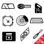 Car part icon set 9 — Stock Vector