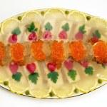 Jellied fish with caviar. — Stock Photo