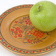 Stock Photo: Green apple.