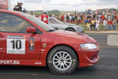 Two racing automobiles. — Stock Photo