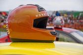 Závodní přilba. — Stock fotografie