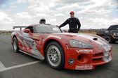 De piloot van de race-auto. — Stockfoto