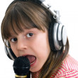 Girl sings — Stock Photo #8404907