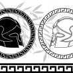 Fantasy ancient helmets — Stock Vector