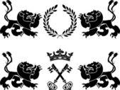 Heraldic monsters — Stock Vector