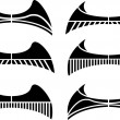 Royalty-Free Stock Vectorafbeeldingen: Set of wings