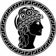 Royalty-Free Stock Vector Image: Black stencil of patrician women