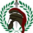 Roman helmet and sword — Stock Vector