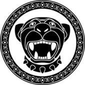 Panther av aztec — Stockvektor