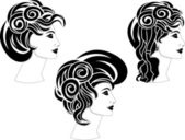 Set of hairstyles — Stock Vector