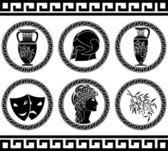 Hellenic buttons — Stock Vector