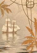 Sea travel background — Stock Photo