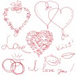 Royalty-Free Stock Vector Image: Valentine design elements