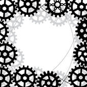 Gears frame — Stock Vector