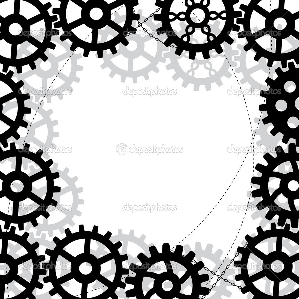 Gears frame — Stock Vector © tanais #8978813