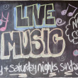 "Inscription ""Live Music"" — Stockfoto #9779404"
