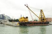 Floating crane — Stock Photo