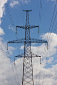 Power line tower — Stock Photo