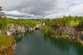 峡谷の青緑色の水 — ストック写真