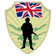 Army of United Kingdom — Stock Vector