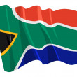 Political waving flag of South Africa — Stock Vector
