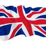 Political waving flag of United Kingdom — Stock Vector