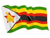 Political waving flag of Zimbabwe — Stock Vector