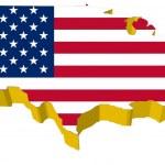 Vectors 3D map of USA — Stock Vector #10046057